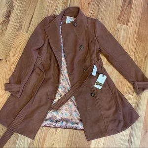 Beautiful anthropologie copper pea coat